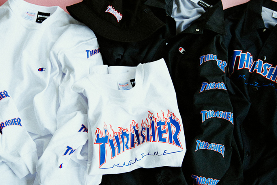 BEAMS x Thrasher x Champion